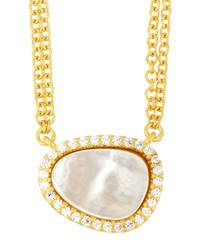 Freida Rothman Belargo Asymmetric Double Strand Pendant Necklace