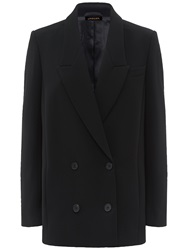Jaeger Double Breasted Blazer Black