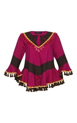 Rossella Jardini Daily Poncho Pink Brown Yellow