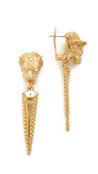 Elizabeth Cole Kelly Earrings Golden Glow