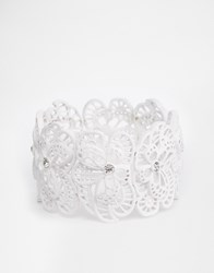 Lipsy White Filigree Bracelet