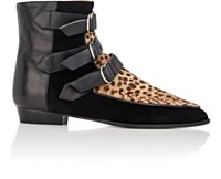 Isabel Marant Women's Rowi Suede And Leather Ankle Boots Brown Black Brown Black