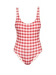 Solid And Striped The Anne Marie Gingham Swimsuit Red White