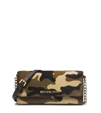 Michael Kors Jet Set Camouflage Hair Calf Chain Wallet Duffle