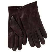 John Lewis Fleece Lined Leather Gloves Oxblood