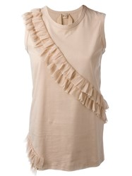 No21 Ruffle Tank Nude And Neutrals
