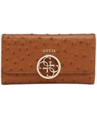 Guess Devyn Slim Clutch Wallet Cognac