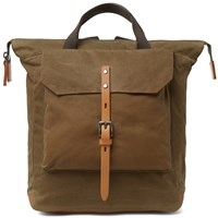 Ally Capellino Frances Waxy Rucksack Brown