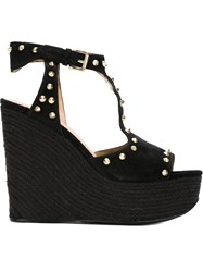 Ash 'Bikini' Wedge Sandals Black