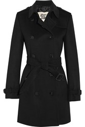 Burberry The Kensington Mid Wool And Cashmere Blend Trench Coat