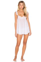 Only Hearts Club Whisper Ruffle Chemise White