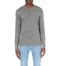 Sandro Dreamers Linen Top Gris Chin