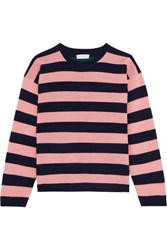 Chinti And Parker Striped Cashmere Sweater Baby Pink