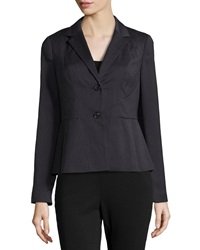 Laundry By Shelli Segal Check Print Peplum Blazer Jacket Black Multi