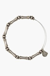 Women's Alex And Ani 'Bamboo Motif' Expandable Wire Bracelet Silver