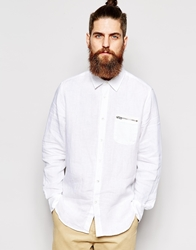 Ymc Shirt Zip Pocket Long Sleeve White