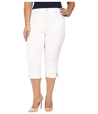 Nydj Plus Size Ariel Crop Rhinestone In Optic White Optic White Women's Jeans