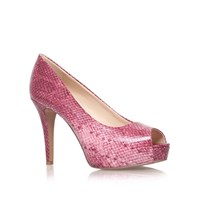 Nine West Camya3 High Heeled Peep Toe Court Shoes Pink