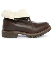 Timberland 6 Inch Roll Top Brown Leather Boots