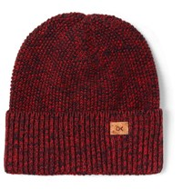 Outerknown Trail Organic Cotton And Baby Alpaca Blend Beanie Red