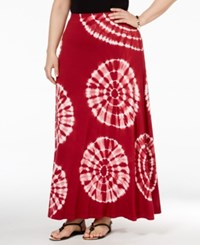 Inc International Concepts Plus Size Tie Dyed Maxi Skirt Only At Macy's Decorative Td