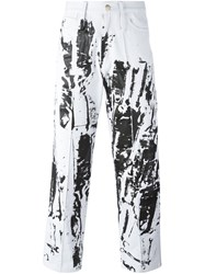 Liam Hodges Overprinted Jeans White