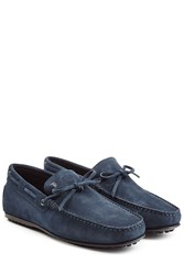 Tod's Tods Suede Loafers Blue
