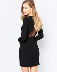 Sisley Scallop Dress In Black Black