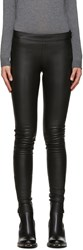 Mackage Black Stretch Leather Leggings