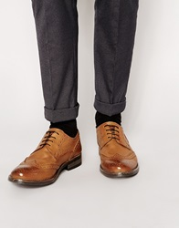 Frank Wright Leather Brogues Tan