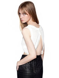 Pixie Market Ribbed Knit Crop Top