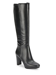 Nine West Round Toe Knee High Boots Black
