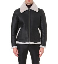 Tiger Of Sweden Gumse Reversible Shearling Jacket Black