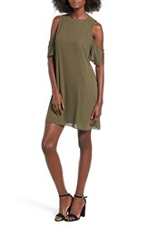 Everly Women's Cold Shoulder Shift Dress Olive