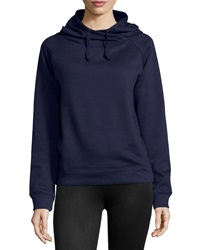 Neiman Marcus Hooded Fleece Sweatshirt Navy