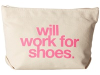 Dogeared Will Work For Shoes Lil Zip Canvas Pink Handbags Bone
