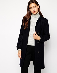French Connection Wonderland Wool Coat Blue