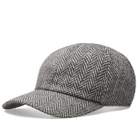 Officine Generale Herringbone Cap Grey