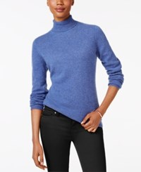 Charter Club Cashmere Turtleneck Sweater Only At Macy's 16 Colors Available Bluegrass Heather