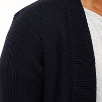 River Island Mens Navy Open Front Cardigan