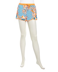 Stella And Jamie Pull On Floral Print Crepe Layered Shorts Multi