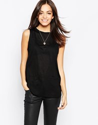 Minimum Sleeveless Vest Top Black