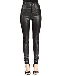 Givenchy High Waist Skinny Leather Trousers Black