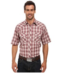 Roper 0298 Cream Red Plaid W Gold Lurex White Men's Clothing