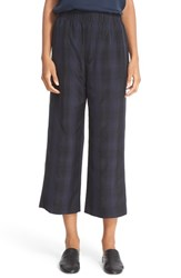 Vince Women's Plaid Slouchy Pull On Crop Pants