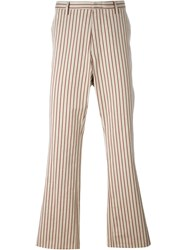 Romeo Gigli Vintage Striped Trousers Nude And Neutrals