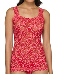 Hanky Panky Cross Dye Lace Camisole Red Lipgloss