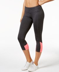 Calvin Klein Performance Colorblocked Capri Leggings Sweats Heather Neon Calypso
