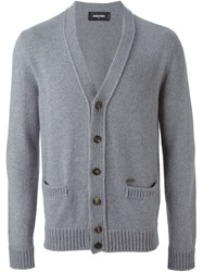 Dsquared2 V Neck Cardigan Grey