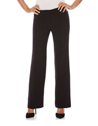 Rafaella Solid Classic Fit Flared Pants Black